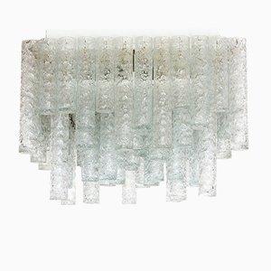 Deutscher Eisglas Kronleuchter von Doria, 1960er