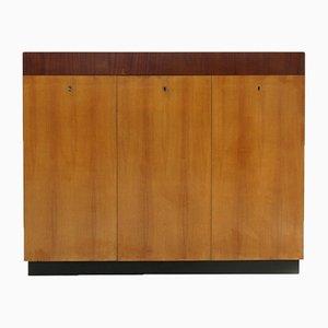Italienischer Holz Schrank im modernen Stil, 1940er