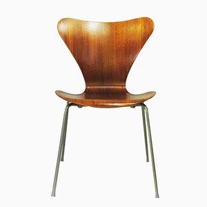Chaise 7-Serie en Teck par Arne Jacobsen pour Fritz Hansen, 1960s