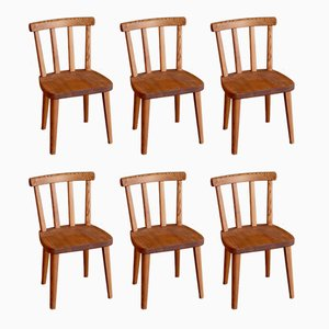 Model Utö Dining Chairs by Axel Einar Hjorth for Nordiska Kompaniet, 1930s, Set of 6