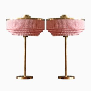 Pink B-138 Brass Table Lamps from Hans-Agne Jakobsson, 1960s, Set of 2