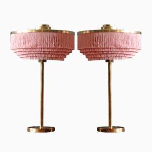 Pink B-138 en Laiton Lampe de Bureaus de Hans-Agne Jakobsson, 1960s, Set de 2
