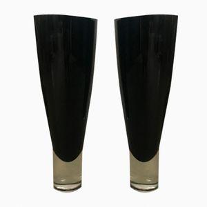 Vernickeltes Messinggestell mit eingelegten Glasstäben, 6-flammig (Bajonettfassungen, kann leicht auf E14 oder E27 Fassungen umgebaut werden).