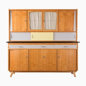 Ash Veneered Kitchen Cupboard, 1950s