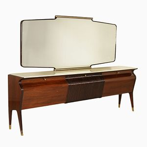 Vintage Italian Rosewood Veneer Buffet by Osvaldo Borsani