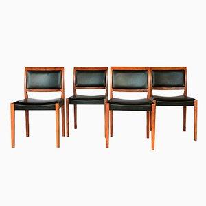 Schwedische Teak Stühle, 1970er, 4er Set