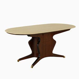 Vintage Italian Rosewood Veneer Dining Table by Osvaldo Borsani