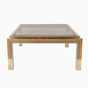 Smoked Glass & Chrome Coffee Table by Romeo Rega, 1970s