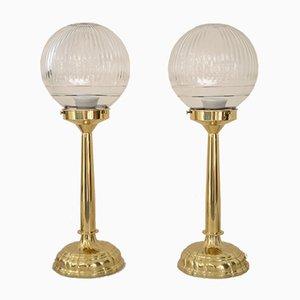 Art Nouveau Table Lamps, 1900s, Set of 2