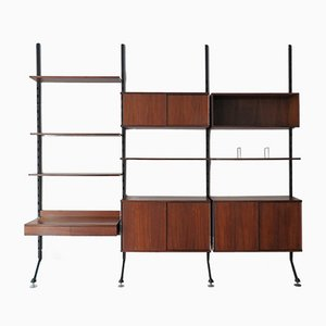 Italian Model Urio Rosewood Wall Unit by Ico & Luisa Parisi for MIM, 1950s