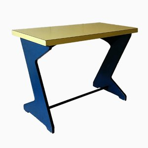 Vintage Blue & Yellow Console Table