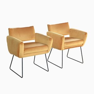 Model 763 Armchairs by Joseph-André Motte for Steiner, 1950s, Set of 2