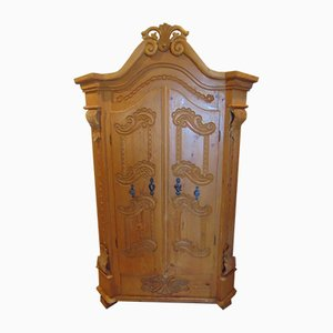Art Nouveau Solid Wood Wardrobe