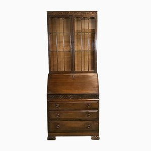 Vintage Writing Cabinet in Oak, 1930s
