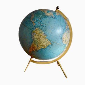 Globe Terrestre Vintage Trépied par George Philip & Son pour Tarride, France, 1967