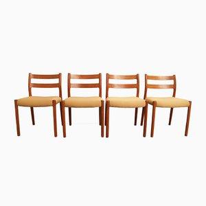 No. 84 Esszimmerstühle von Niels Otto Møller für J L Møller, 1970er, 4er Set