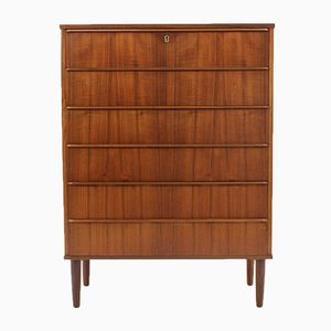Danish Teak Chest of Drawers from Si-Bomi Mobler, 1960s