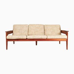 Dänisches Vintage 3-Sitzer Sofa aus Teak von Arne Wahl Iversen für Komfort
