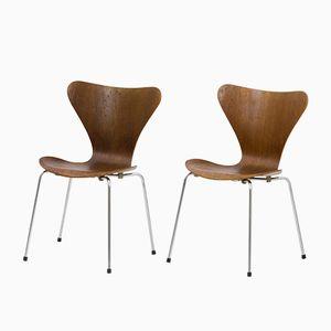 Chaises Série 7 Vintage par Arne Jacobsen pour Fritz Hansen, Set de 6