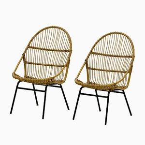 Vintage Rattan Stühle von Alan Fuchs für Úluv, 2er Set