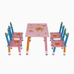 Esszimmer Set für Kinder von Pierre Sala, 1980er, 5er Set