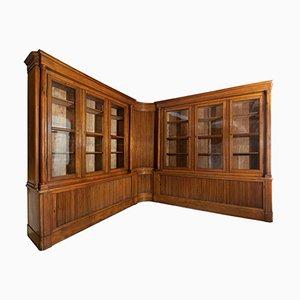 Antikes italienisches Walnuss Bücherregal