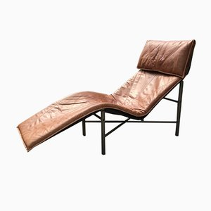 Skye Chaise Lounges in Cognac Leather by Tord Björklund for Ikea, 1970s, Set of 2