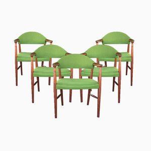 Modell 223 Esszimmerstühle aus Teak von Kurt Olsen für Slagelse Møbelværk, 1960er, 5er Set