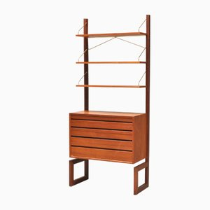 Royal System Shelving Unit with Dresser by Poul Cadovius for Cado, 1960s