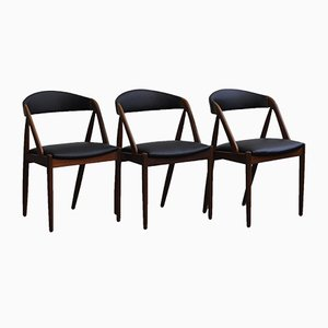 Chaise de Salle à Manger Modèle 31 en Teck par Kai Kristiansen pour Schou Andersen, 1960s