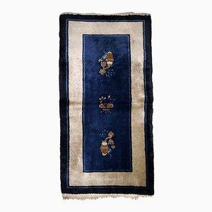 Antique Handmade Chinese Peking Rug, 1900s