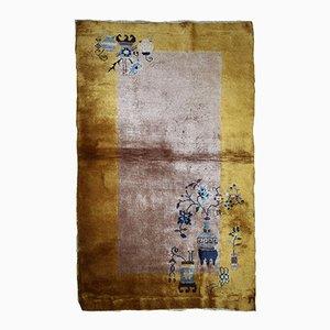 Chinesischer handgearbeiteter Art Deco Teppich, 1920er