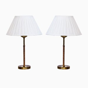 Model 2043 Table Lamps by Åke Hultgren for Nordiska Kompaniet, 1960s, Set of 2