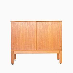 Vintage Danish Teak Record Storage Cabinet