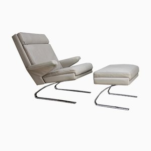 Swing Lounge Chair & Ottoman by R. Adolf & H.J. Schräpher for Cor, 1970s