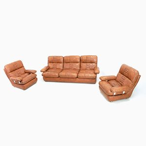 Vintage Three-Piece Lounge Suite from Rest Assured, 1970s