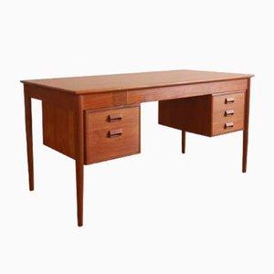 Danish Teak Desk by Børge Mogensen for Søborg Møbelfabrik, 1950s