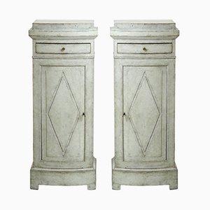 Antique Pedestal Cabinets, 1810s, Set of 2