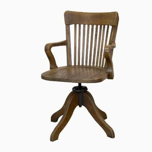 Antique Wooden Swivel Chair