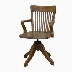 Chaise Pivotante Antique en Bois