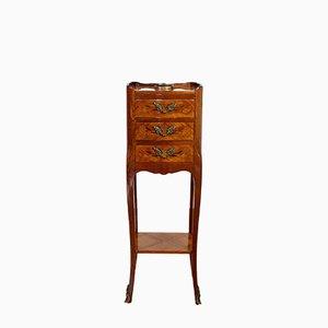 Table de Chevet Vintage en Marqueterie, France