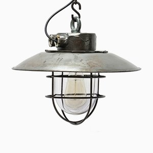 Vintage Cast Steel Pendant Lamp