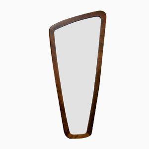 Skandinavischer asymmetrischer Mid-Century Spiegel