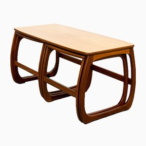 Teak Coffee Table with Nesting Tables, 1960s