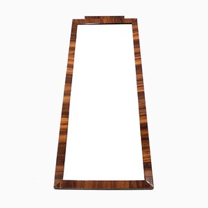 Art Deco Swedish Rosewood Mirror, 1940s