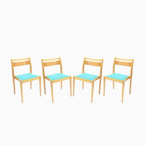 Stacking Chairs by Axel Larsson for Gemla, 1950s, Set of 4