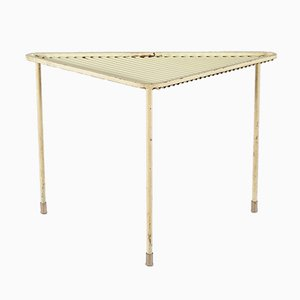 Yellow Triangle Coffee Table by Mathieu Matégot, 1950s