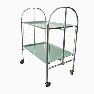 Foldable Green Serving Trolley, 1960s
