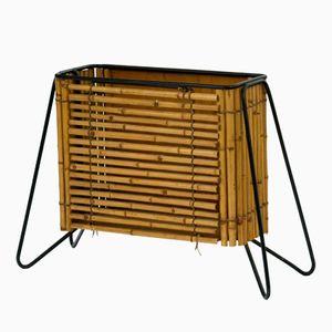 Bambus Zeitungsständer, 1960er
