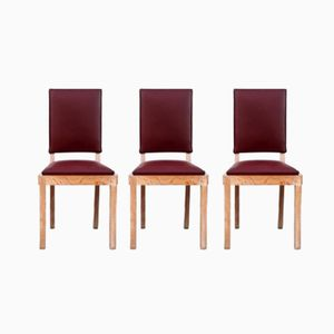 Chairs from Charles Dudouyt, 1940s, Set of 3